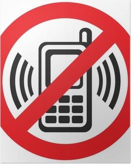 Plakat Wektor śladu telefonu komórkowego