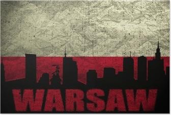 Plakat Widok Warszawy
