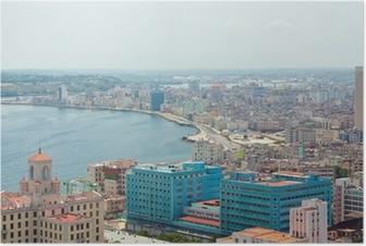 Plakat Widok z lotu ptaka na brzegu Havana