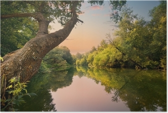 Plakat Wieczorem na rzece