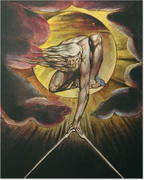 Plakat William Blake - Bóg jako architekt - Reprodukcje