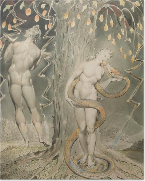 Plakat William Blake - Ewa kuszona przez węża - Reprodukcje