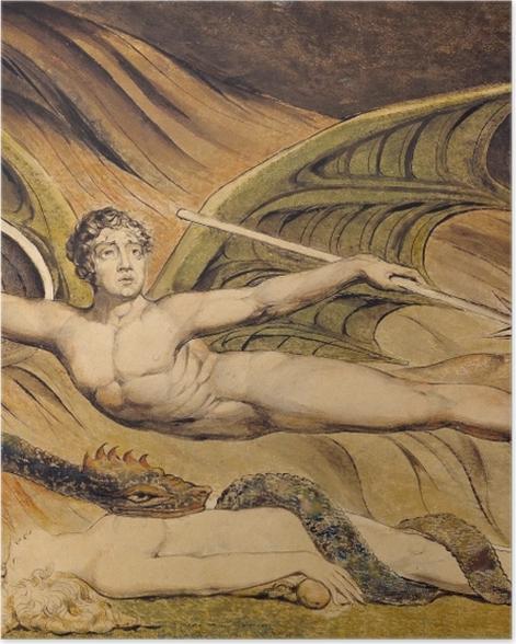 Plakat William Blake - Szatan unoszący się nad Ewą - Reprodukcje