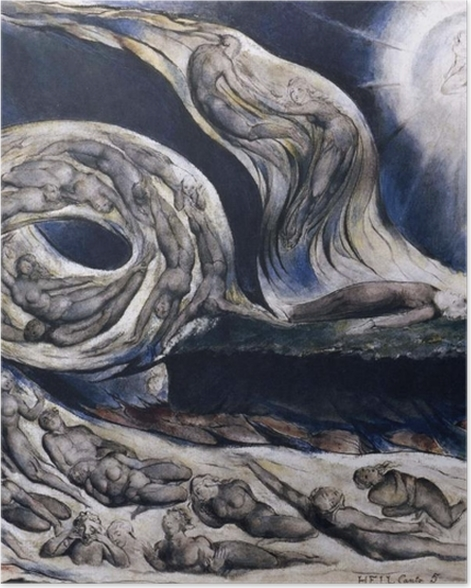 Plakat William Blake - Wir kochanków - Reprodukcje