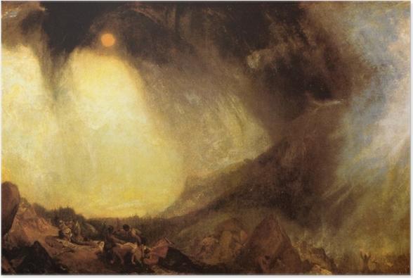 Plakat William Turner - Burza śnieżna: armia Hannibala przekraczająca Alpy - Reprodukcje
