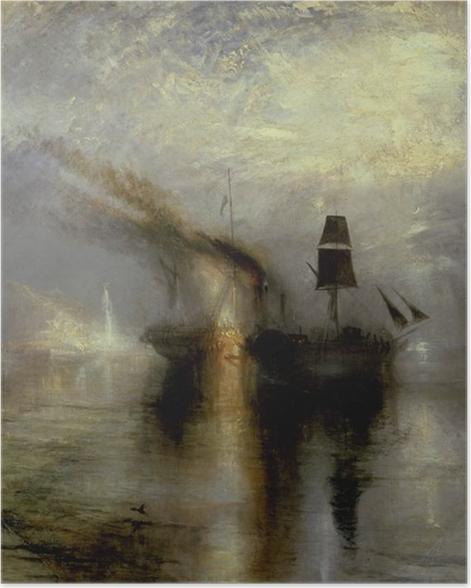 Plakat William Turner - Morski pogrzeb - Reprodukcje