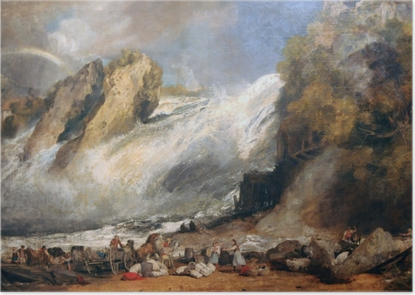 Plakat William Turner - Rheinfall w Schaffhausen - Reprodukcje