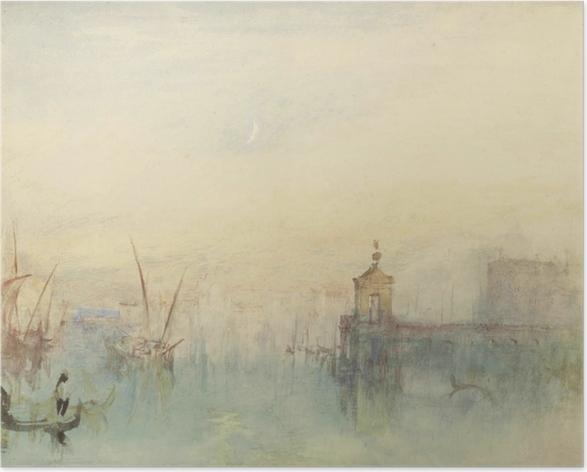Plakat William Turner - San Giorgio Maggiore o zachodzie słońca, widziane z Hotelu Europa - Reprodukcje