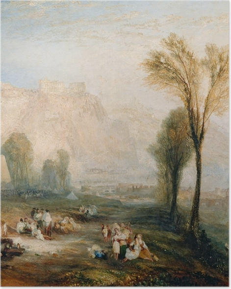 Plakat William Turner - The Bright Stone of Honor (Ehrenbreitstein) and Tomb of Marceau from Byron's 'Childe Harold - Reprodukcje