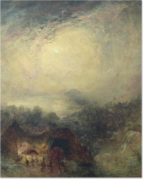 Plakat William Turner - Wieczorna powódź - Reprodukcje