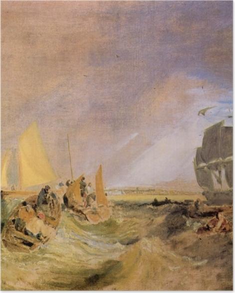 Plakat William Turner - Żegluga w ujściu Tamizy - Reprodukcje