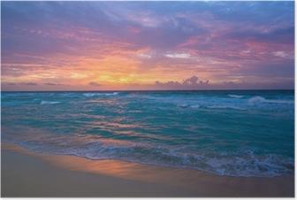 Plakat Wschód słońca w Cancun