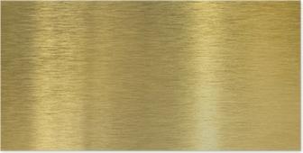 Plakat Wysokiej jakości tekstury szczotkowanego mosiądzu z odbicia światła