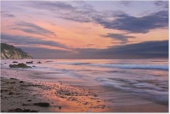 Plakat Zachód słońca w Santa Barbara
