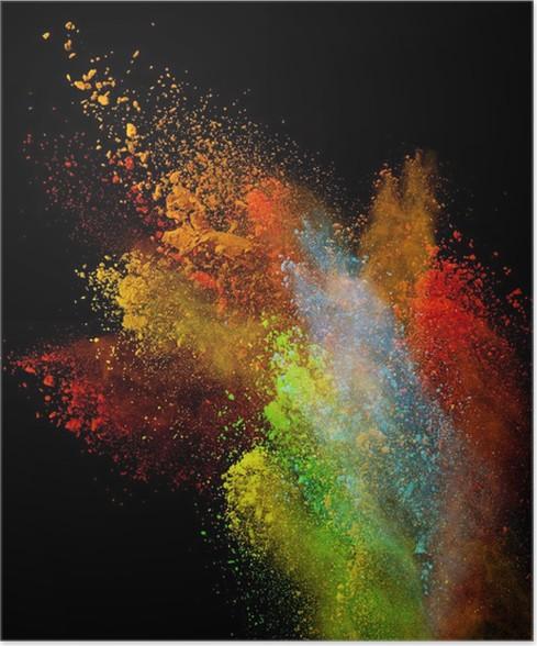 Plakát Zahájila barevné prášek - Abstraktní