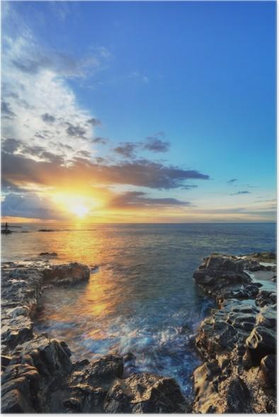 Plakát Západ slunce v St-Paul, Réunion. - Nebe