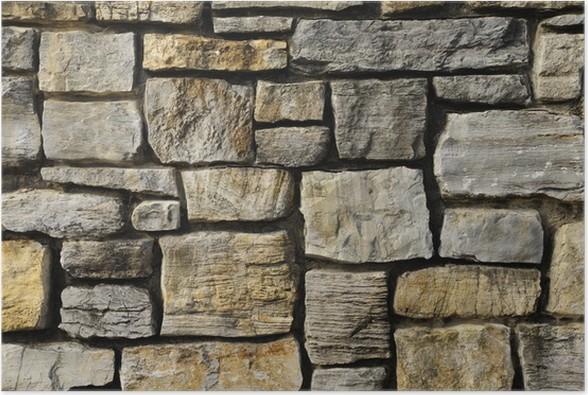 Plakát Zdivo skalní stěna textura - Struktury