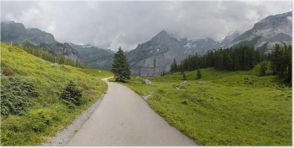 Plakát Země silnici v Alpách - Evropa