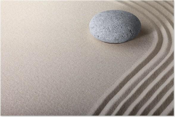 Plakát Zen pískovec zahrada - Náboženství