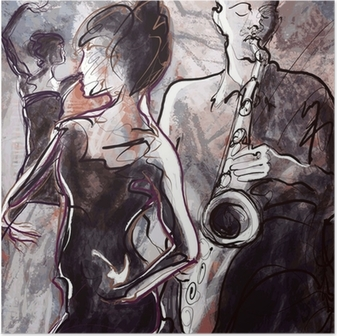 Plakaty Jazz Odmień Swoje Wnętrze Pixers żyjemy By