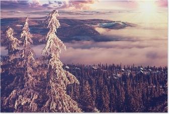 Plakat Zima w Norwegii