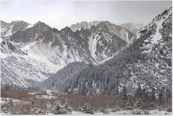 Plakát Zimní hory - Zimní sporty