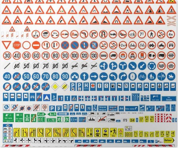 plakat znaki drogowe � pixers174 � Żyjemy by zmienia�