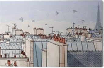 Plexiglas Print Frankrijk - Parijs daken