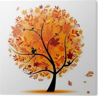 Plexiglas Print Mooie herfst boom voor uw ontwerp