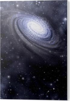Plexiglastavlor Galaxy och Starfield bakgrund