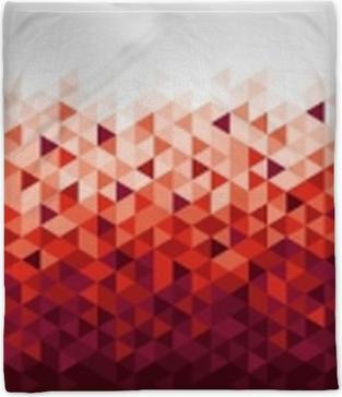 Abstract geometric banner Plush Blanket