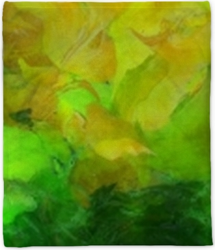 Colorful Abstract Painting Plush Blanket