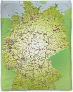 Deutschlandkarte 1 1 6 Mio Poster Pixers We Live To Change