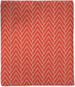 red chevron pattern Plush Blanket