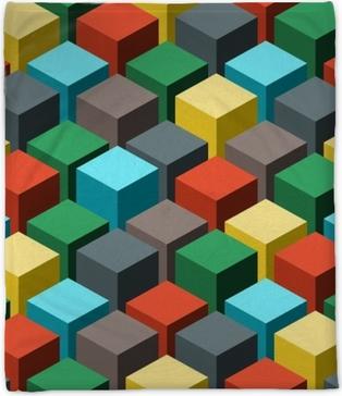 Seamless geometric abstract pattern. Vector illustration. Plush Blanket