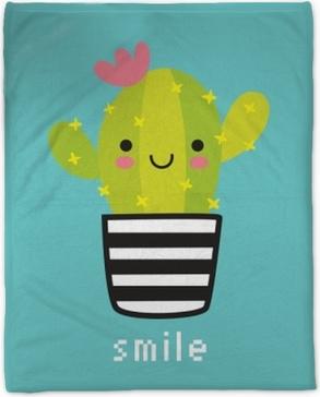 Smile Plush Blanket