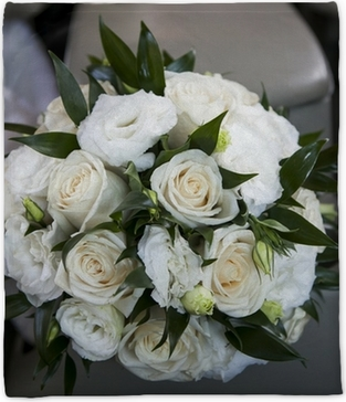 Bouquet Sposa Lisianthus E Rose.Wedding Bouquet With Rose And Lisianthus Poster Pixers We