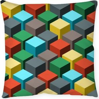 Poduszka dekoracyjna Bez szwu geometryczny wzór abstrakcyjny. ilustracji wektorowych.