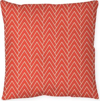 Poduszka dekoracyjna Czerwony szewron wzór