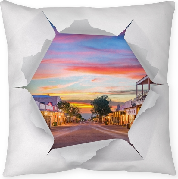 Poduszka dekoracyjna Dziura w ścianie - Arizona - Dziury w ścianie