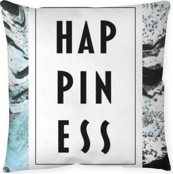 Poduszka dekoracyjna Happiness