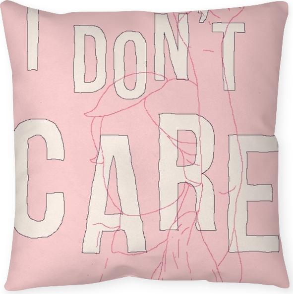 Poduszka dekoracyjna I don't care - Demotywacyjne
