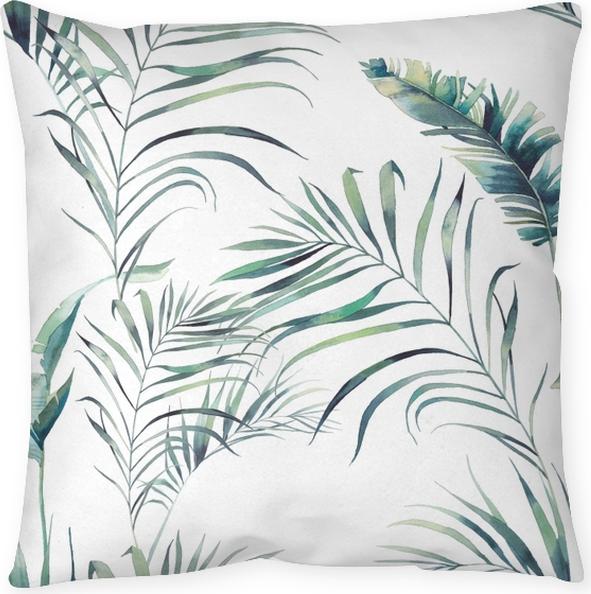 Poduszka dekoracyjna palma lato i liści bananów -