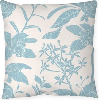 Poduszka dekoracyjna Powtarzalne kwiatowy wzór
