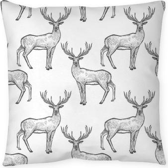 Poduszka dekoracyjna Szwu z jelenia.
