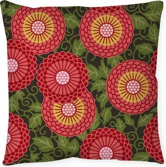 Poduszka dekoracyjna Tradycyjne kwiaty bez szwu wzór