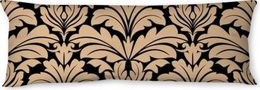 Poduszka relaksacyjna Bez szwu deseń z beżowymi motywami kwiatowymi arabeska