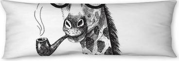 Poduszka relaksacyjna Hand drawn Illustration of giraffe hipster
