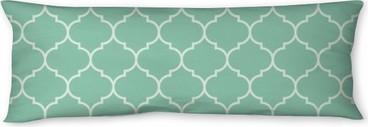 Poduszka relaksacyjna Jednolite turkusowe szeroka marokański wektor wzór