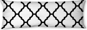 Poduszka relaksacyjna Marokański szwu w czerni i bieli